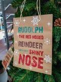 Reniferowy Rudolph dekoracji Bożenarodzeniowy xmas obraz stock