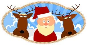 reniferowy Santa dwa Royalty Ilustracja