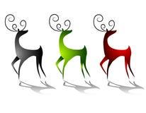 renifery na jelenie, śledzących pozycję Obrazy Royalty Free