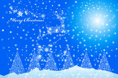 Renikone der frohen Weihnachten eines Schneeflockendesigns - Illustration eps10 Lizenzfreie Stockbilder