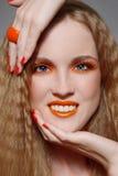 Renivellement orange photographie stock