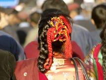Renivellement traditionnel de cheveu Photo libre de droits