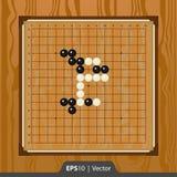 Renju ha messo per progettazione di interfaccia dello sviluppo del gioco Immagini Stock Libere da Diritti