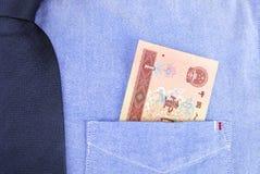 Renminbi в карманн Стоковое Изображение RF