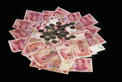 Renminbi. A lot of Renminbi-China Currency Royalty Free Stock Photo