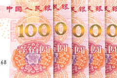 Renminbi. The background of china banknotes Royalty Free Stock Photography