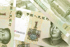 Renminbi background. The background of china currency Stock Images