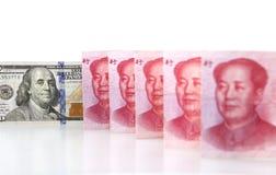 Renminbi and dollar Royalty Free Stock Images