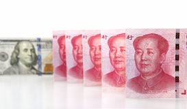 Renminbi and dollar Royalty Free Stock Photography
