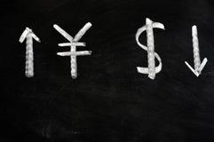 Renminbi e dólar Foto de Stock Royalty Free