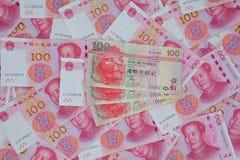 Renminbi en Hong Kong-dollar Stock Fotografie