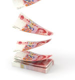 Renminbi falling down Stock Photo