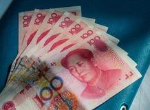 100 Renminbi RMB banknotes stock photo