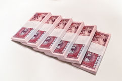 Renminbi. RMB fifty cents on a white background Stock Photography