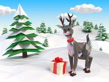 Renna al Natale illustrazione di stock