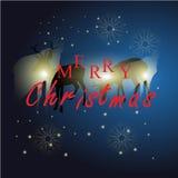 Renna con il Natale fondo ed il vettore della cartolina d'auguri Illustrazione Vettoriale