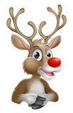 Renna del fumetto di Natale Fotografia Stock
