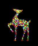 Renna della renna del vetro macchiato Fotografia Stock