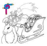 Renna di immagine di coloritura Illustrazione di Stock