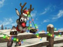 Renna di Natale illustrazione di stock