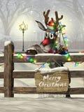 Renna di Natale fotografia stock