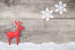 Renna di Natale Fotografie Stock