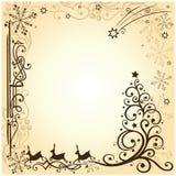 Renna, natale, stelle Illustrazione Vettoriale