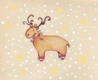 Renna nella neve illustrazione di stock
