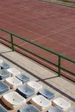 Rennbahnen und Sitze Stockfotografie