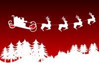 Renne avec l'arbre de Noël image libre de droits
