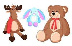 Renne Bunny Christmas Toys Vector Illustration illustration libre de droits