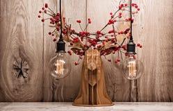 Renne décoratif avec des baies Photo stock