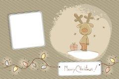 Renne de Noël Image libre de droits