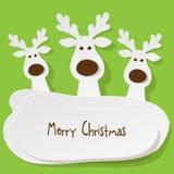 Renne de Noël Images libres de droits