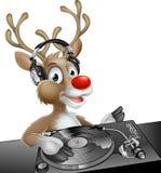 Renne de Noël du DJ Image libre de droits