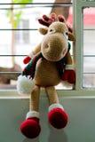 Renne de Noël de SUCRERIE d'AMIGURUMI Photographie stock libre de droits