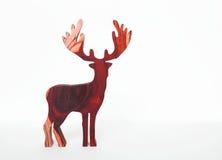 Renne en bois rouge Images libres de droits