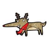 renne flairé rouge de Rudolf de bande dessinée Images libres de droits
