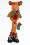 Renne mignon de Noël Images stock