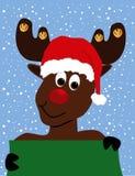 renne Rudolph de fond Images stock