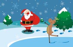 renne Santa Photo libre de droits