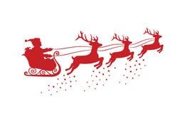 renne Santa de Claus photo libre de droits