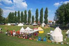 Renneissancemarkt in Koprivnica, Kroatië Royalty-vrije Stock Foto