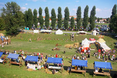 Renneissancemarkt in Koprivnica, Kroatië Royalty-vrije Stock Fotografie