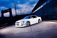 Rennen-Antrieb-Auto stockfotografie