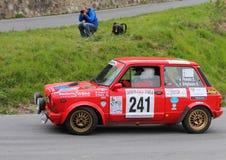 Rennen Autobianchis A112 Abarth während der 64. Sanremo-Sammlung Lizenzfreies Stockbild