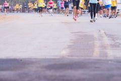 Rennen der Marathonläufer im Jahre 2015 Lizenzfreies Stockfoto