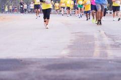 Rennen der Marathonläufer im Jahre 2015 Stockfoto