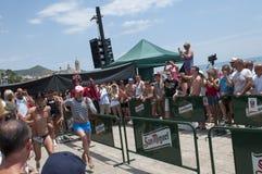 Rennen des hohen Absatzes, Sitges Stockfoto