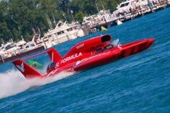 Rennen des Hydroplane-U-5 auf dem Fluss Stockbilder